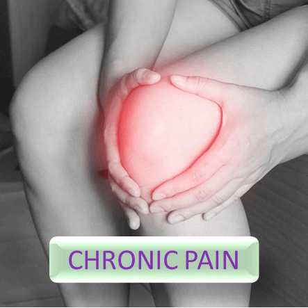 Button for more informations about chronic pain