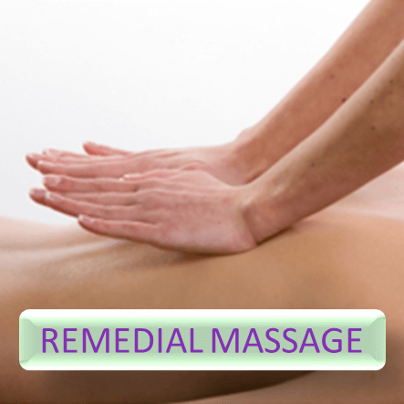 Button for more informations about remedial massage