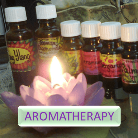 Button for more informations about aromatherapy